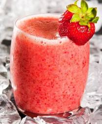 Smoothie aux fraises du marché